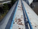 配管の補修・塗替工事をしました。